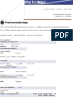 academic transcript- pcc