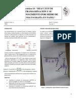 Práctica 10 (Bioquimica) Reacción de Transaminación y Su Reconocimiento Por Medio de Cromatografía de Papel