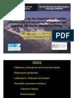 Modelización de los impactos -El Santa, Mantaro y Rimac