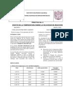 Práctica 8 (Bioquímica) Efecto de La Temperatura en La Velocidad Enzimática