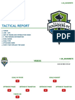 TACTICAL REPORT | SEATTLE SOUNDERS