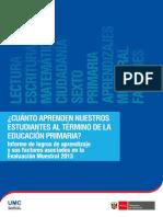 Informe de Logros de Aprendizaje y Sus Factores Asociados-EM 2013