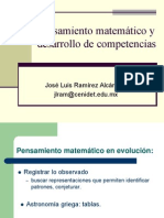 Pensamiento matemático y desarrollo de competencias
