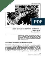 18687627 Torres Rosa Maria Educacion Popular Un Encuentro Con Paulo Freire 1985