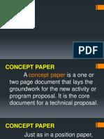 Concept Paper Slide Desk