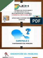 DIAPOSITIVAS DEL CONTROL DE INVENTARIO Y SU INFLUENCIA EN LA RENTABILIDAD COMERCIAL URETA E.I.R.L