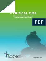 """A Critical Time"""
