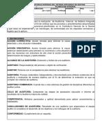 Auditorias Internas Del Sistema Integrado de Gestión