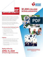 AHC HS Scholarship Opportunity