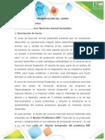 Presentación del curso - Nutrición animal sostenible