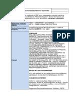 Documento de Condiciones Especiales