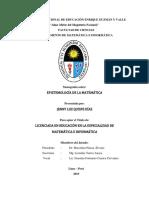 Episteologia de La Matematica- Quispe Diaz Jenny