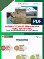 PRESENTACION Comite Tecnico Normalizacion en Riego Tecnificado VALEEE