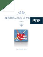 Proyecto Escrito Final INFARTO AGUDO DE MIOCARDIO