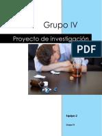 Proyecto de Investigacion, Alcoholismo