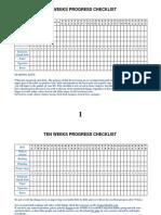 10 weeks checklist