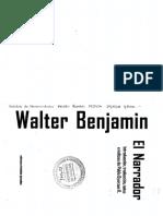 El narrador. Walter Benjamin. Oyarzún.