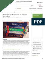 La formación del docente en lenguas extranjeras _ Magisterio