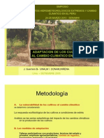 Adaptación de los cultivos al cambio climático