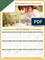 calendário 19 20
