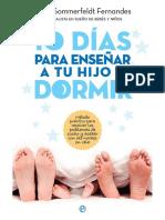 10 diás para enseñar a dormir a tu hijo