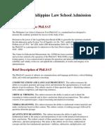 PhiLSAT Admission Test