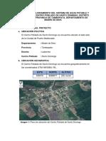 Proyecto de Saneamiento Para c.p. Santo Domingo
