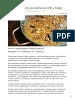 Cocinillas.elespanol.com-Garbanzos Guisados Con Manitas de Cerdo y Hongos
