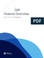 Liferay DXP Features Overview Version Comparison
