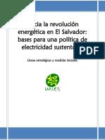 Hacia La Revolucion Energetica en El Salvador
