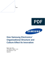 2015 Spring Semester Organization Theory Exam How Samsung Electronics Organizational Structure and Culture Affect Its Innovation Name Jeen Chun Cpr Number Date March 13 Th 2015 Signature