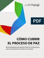 Guía para la cobertura del proceso de paz