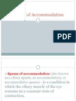 Spasm of Accommdation