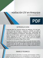 Radiación UV en Arequipa