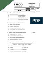 Examen Final de Gramatica PRIMARIA
