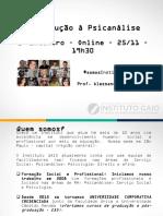 Grupo de Estudos de Introdução à Psicanálise - Encontro 2 - InSTITUTO GAIO