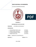 2019-II MC115 Informe 1 Ciencias de Los Materiales II FIM - UNI
