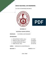 Informe 2 - Ciencias de Los Materiales II - 2019 II - FIM - UNI