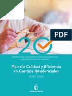 Plan de Calidad y Eficiencia Centros Residenciales Jccm