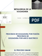 Metalurgia de La Soldadura- Procesos de Soldadura