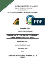 Evaluacion de La Situacion Economica y Financier A de Comercial Abad