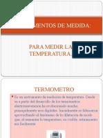 INSTRUMENTOS PARA MEDIR TEMPERATURA