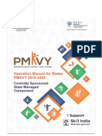 Operations Manual for PMKVY (2016-20) - Centrally Sponsored State Managed Component