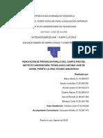 Informe de Servicio Comunitario Fase I y II Periodo 2019-I