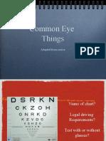 Common Eye Complaints Edited