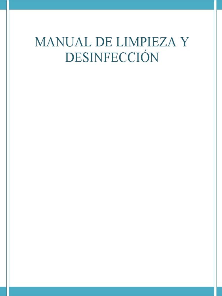 Programa de limpieza y desinfecci n for Manual de limpieza y desinfeccion en restaurantes