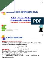 PDF Aula 7 Funcao Modular Expon e Log