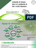 Factores Influyentes en La Producción de Biodiesel en Laboratorio