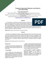 Implementación del Programa de inspecciones planeadas