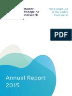 water footprint annual report 2015